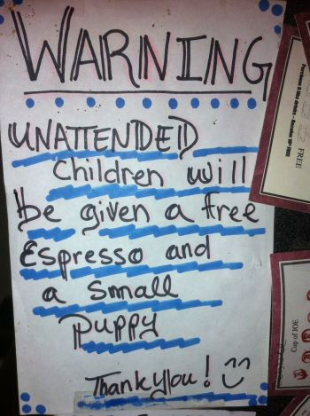Sign at Joe's Deli