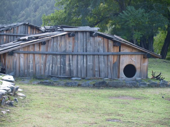 Traditional Hoopa House
