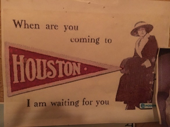 When are you coming to Houston